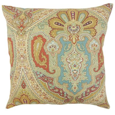 Kenia Linen Throw Pillow Color: Turquoise, Size: 22 x 22