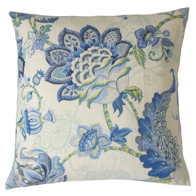 Lieve Floral Bedding Sham Size: Queen, Color: Blue
