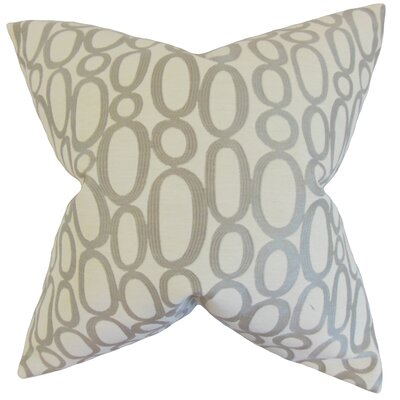 Penshire Geometric Bedding Sham Size: King, Color: Steel
