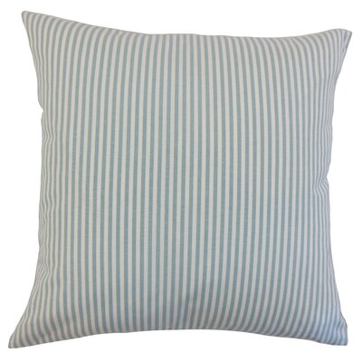 Ira Cotton Throw Pillow Color: Aqua, Size: 22 x 22