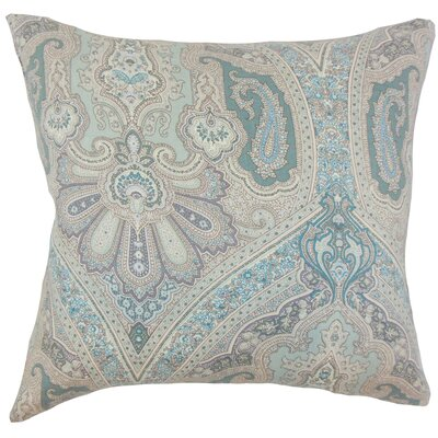 Kenia Linen Throw Pillow Color: Seaglass, Size: 18 x 18