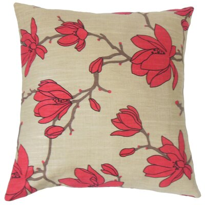 Zakiya Floral Cotton Throw Pillow Size: 18 x 18