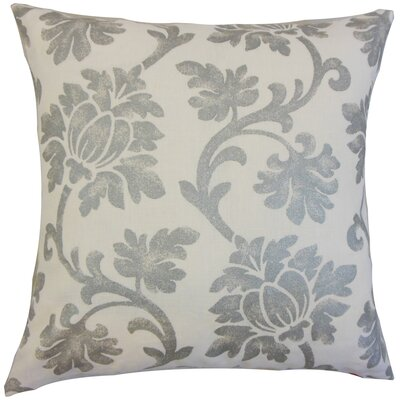 Patrice Linen Throw Pillow Color: Platinum, Size: 18 x 18