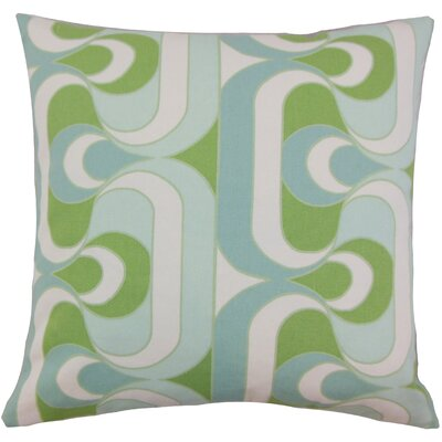 Nairobi Cotton Throw Pillow Color: Aqua Green, Size: 24 x 24