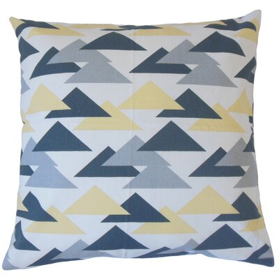 Wyome Cotton Throw Pillow Color: Luster, Size: 24 x 24