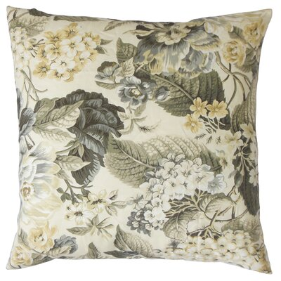 Kalonice Cotton Throw Pillow Color: Metal, Size: 24 x 24