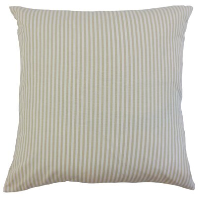 Ira Cotton Throw Pillow Color: Beige, Size: 18 x 18