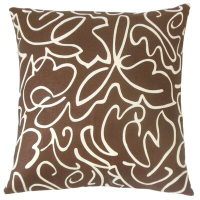 Ailill Cotton Throw Pillow Color: Coffee, Size: 20 x 20