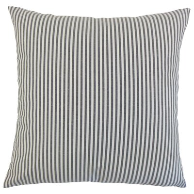 Ira Cotton Throw Pillow Color: Black, Size: 18 x 18