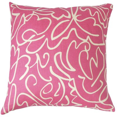 Ailill Cotton Throw Pillow Color: Fuchsia, Size: 20 x 20