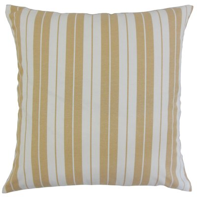Henley Cotton Throw Pillow Color: Honey, Size: 18 x 18