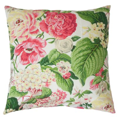 Chaplin Floral Square Bedding Sham Size: King, Color: Rose Green