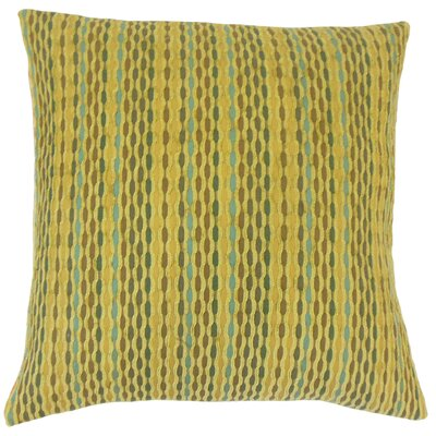 Conesus Stripes Bedding Sham Size: Euro, Color: Kelp