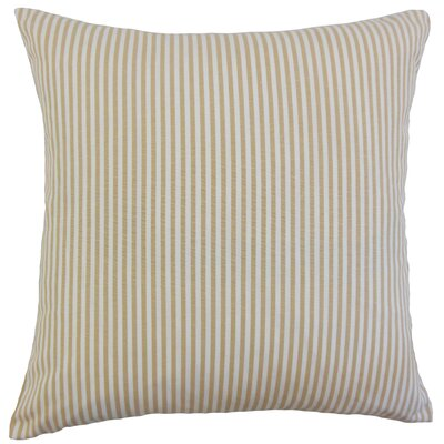 Ira Cotton Throw Pillow Color: Honey, Size: 18 x 18