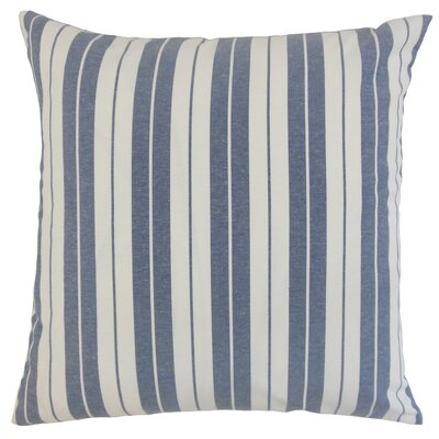 Henley Cotton Throw Pillow Color: Navy, Size: 18 x 18