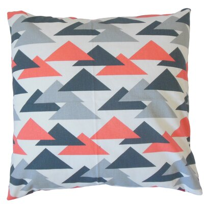 Wyome Cotton Throw Pillow Color: Salmon, Size: 18 x 18