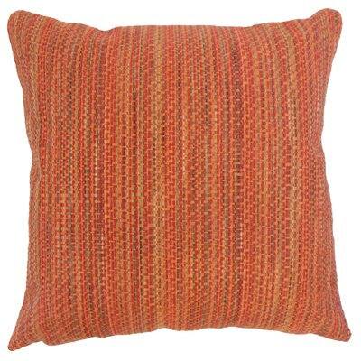 Raith Stripes Throw Pillow Cover Size: 18 x 18, Color: Tamale