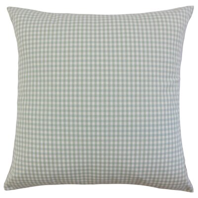 Keats Plaid Throw Pillow Cover Color: Sea