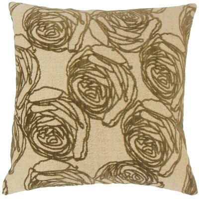 Ilaria Floral Throw Pillow Color: Cork, Size: 18 x 18
