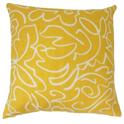 Ailill Cotton Throw Pillow Color: Yellow, Size: 20 x 20