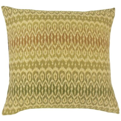 Dehateh Ikat Throw Pillow Color: Jungle, Size: 22 x 22