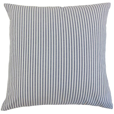 Ira Cotton Throw Pillow Color: Navy, Size: 18 x 18