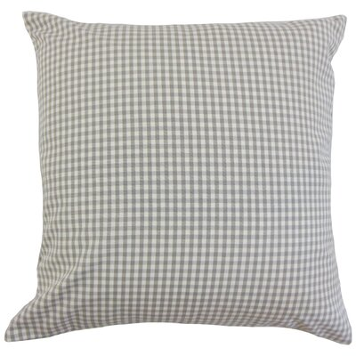 Keats Cotton Throw Pillow Color: Slate, Size: 24 x 24