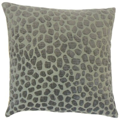 Lameez Geometric Bedding Sham Size: King, Color: Pewter