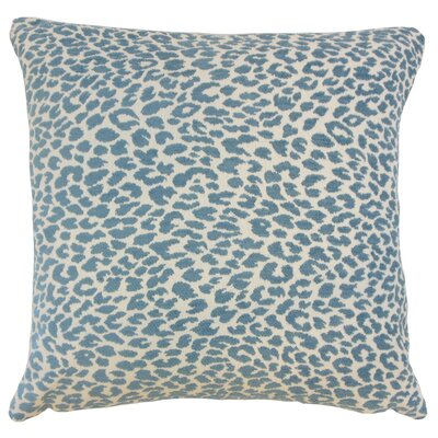 Pesach Animal Print Throw Pillow Color: Delft, Size: 18 x 18