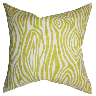 Thirza Swirls Cotton Throw Pillow Size: 18 x 18