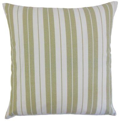 Henley Cotton Throw Pillow Color: Sage, Size: 18 x 18