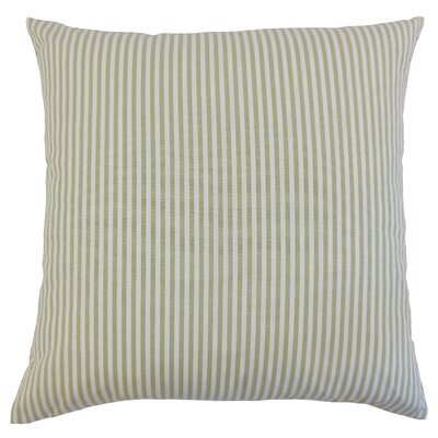 Ira Cotton Throw Pillow Color: Sage, Size: 18 x 18