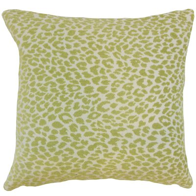 Pesach Animal Print Throw Pillow Cover Size: 18 x 18, Color: Kiwi
