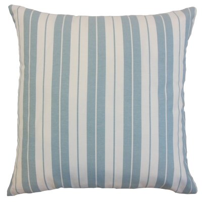 Henley Cotton Throw Pillow Color: Sea, Size: 18 x 18