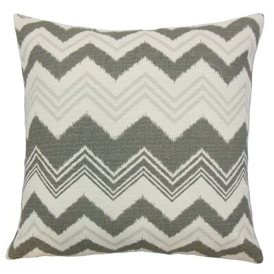 Quirindi Zigzag Bedding Sham Size: King, Color: Gray