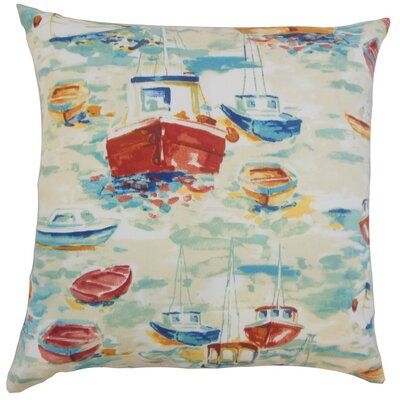 Iara Outdoor Throw Pillow Color: Blue, Size: 18 x 18