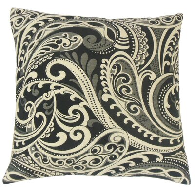 Natashaly Throw Pillow Color: Domino, Size: 22 x 22