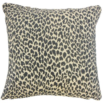 Pesach Animal Print Throw Pillow Color: Onyx, Size: 18 x 18