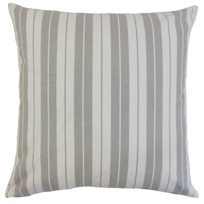 Henley Cotton Throw Pillow Color: Slate, Size: 18 x 18