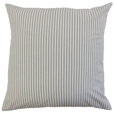 Ira Cotton Throw Pillow Color: Slate, Size: 18 x 18