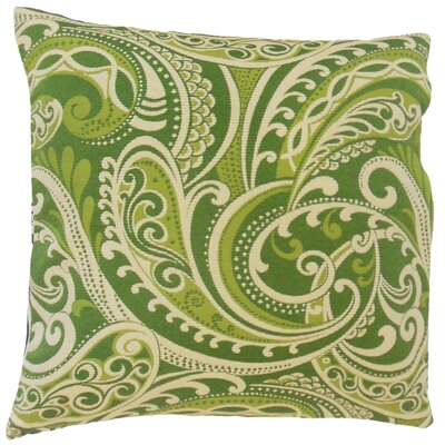 Natashaly Throw Pillow Color: Kelly, Size: 18 x 18