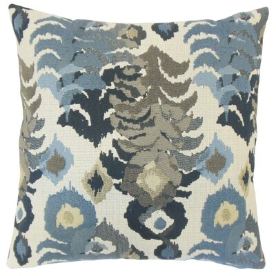 Henriette Ikat Cotton Throw Pillow Cover Color: Indigo