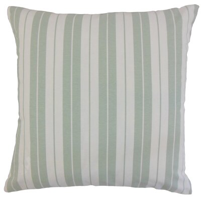 Henley Cotton Throw Pillow Color: Beige, Size: 22 x 22