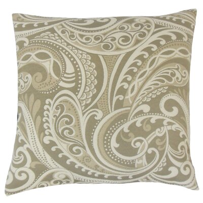 Natashaly Throw Pillow Color: Linen, Size: 24 x 24