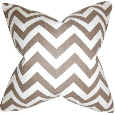Xayabury Cotton Throw Pillow Color: Village Brown, Size: 18 x 18
