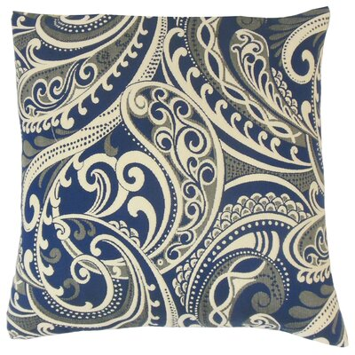 Natashaly Throw Pillow Color: Navy, Size: 18 x 18
