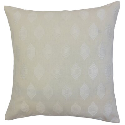 Gal Geometric Bedding Sham Size: King, Color: Ivory