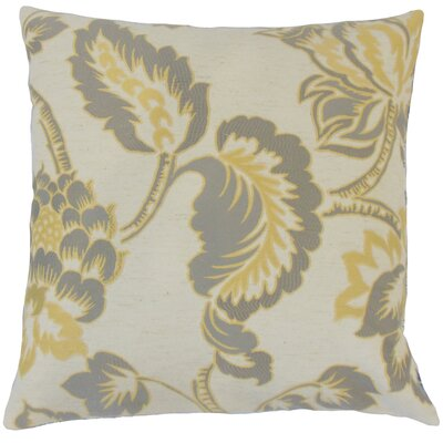 Rhynisha Throw Pillow Color: Lemon Grass, Size: 18 x 18