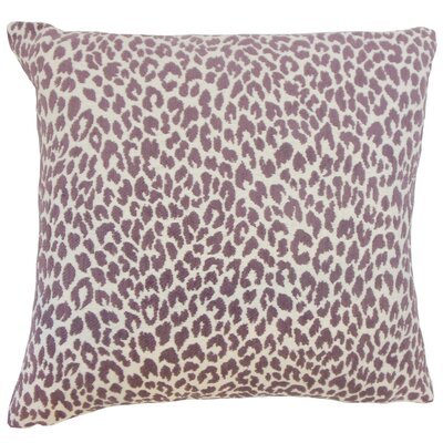 Pesach Animal Print Throw Pillow Color: Orchid, Size: 18 x 18