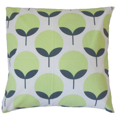 Utcha Cotton Throw Pillow Color: Kiwi, Size: 22 x 22